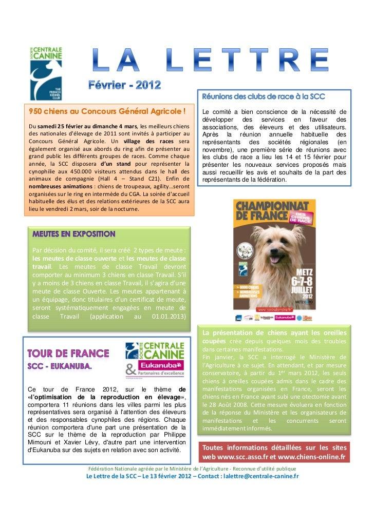 950 chiens au Concours Général Agricole                                 Le comité a bien conscience de la nécessité de    ...