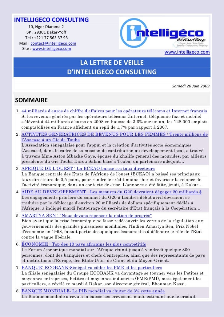 Lettre Veille Intelligeco 13