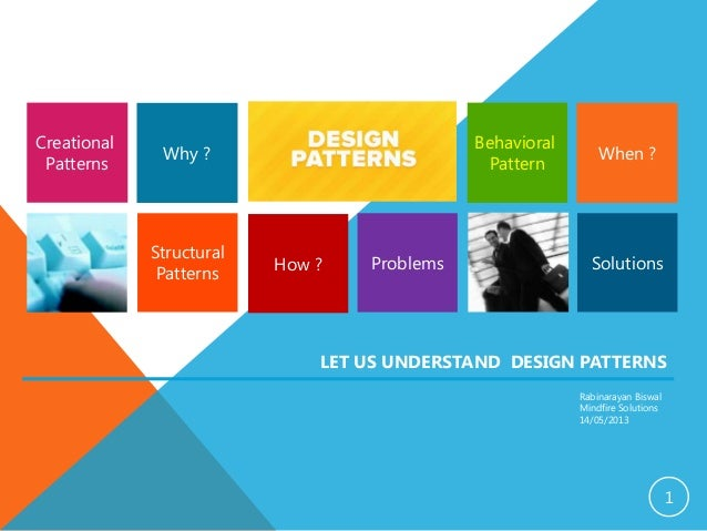 1 Structural Patterns SolutionsProblems Creational Patterns Behavioral Pattern Why ? LET US UNDERSTAND DESIGN PATTERNS Rab...