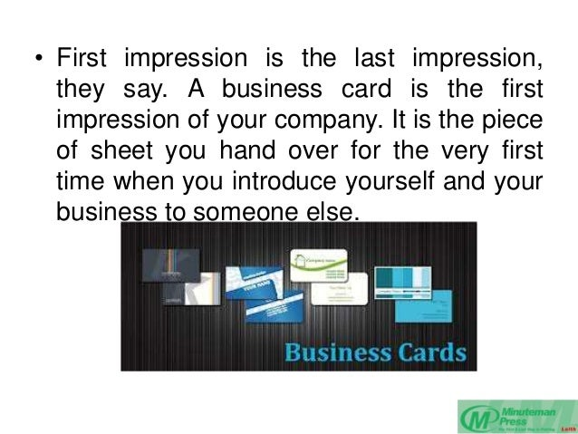 First Impressions Print First Impression is The Last
