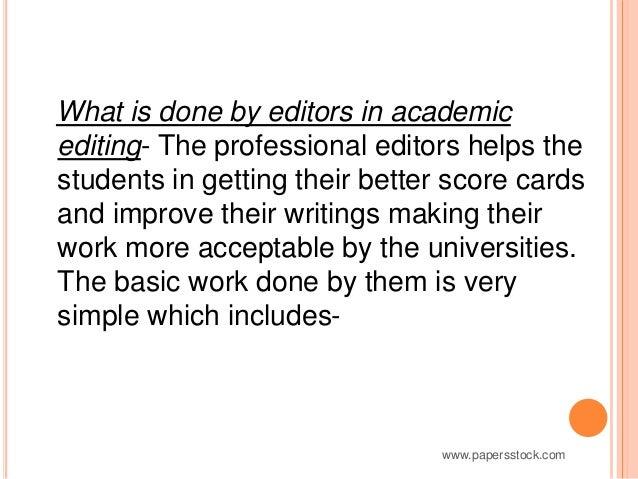 Online editing work