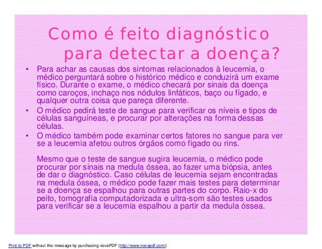 Que exame detecta leucemia