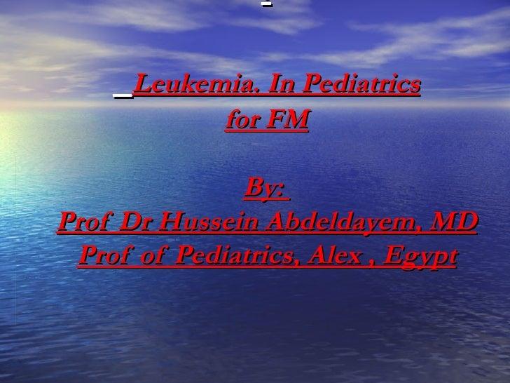 Leukemia For FM