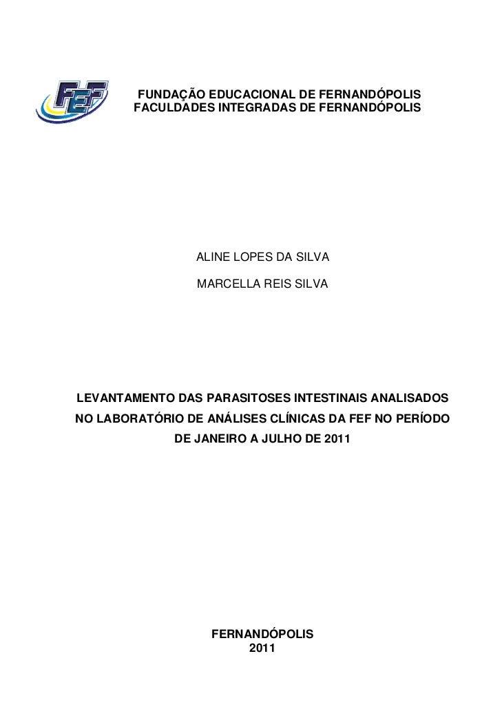 FUNDAÇÃO EDUCACIONAL DE FERNANDÓPOLIS        FACULDADES INTEGRADAS DE FERNANDÓPOLIS                 ALINE LOPES DA SILVA  ...
