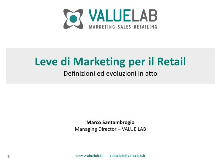 Leve di Marketing per il Retail