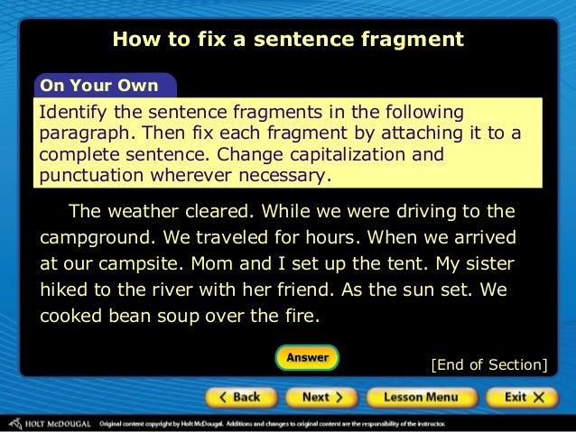 Fix sentence grammar