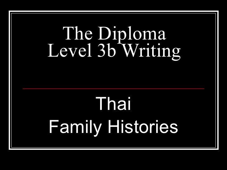Thai Family Histories