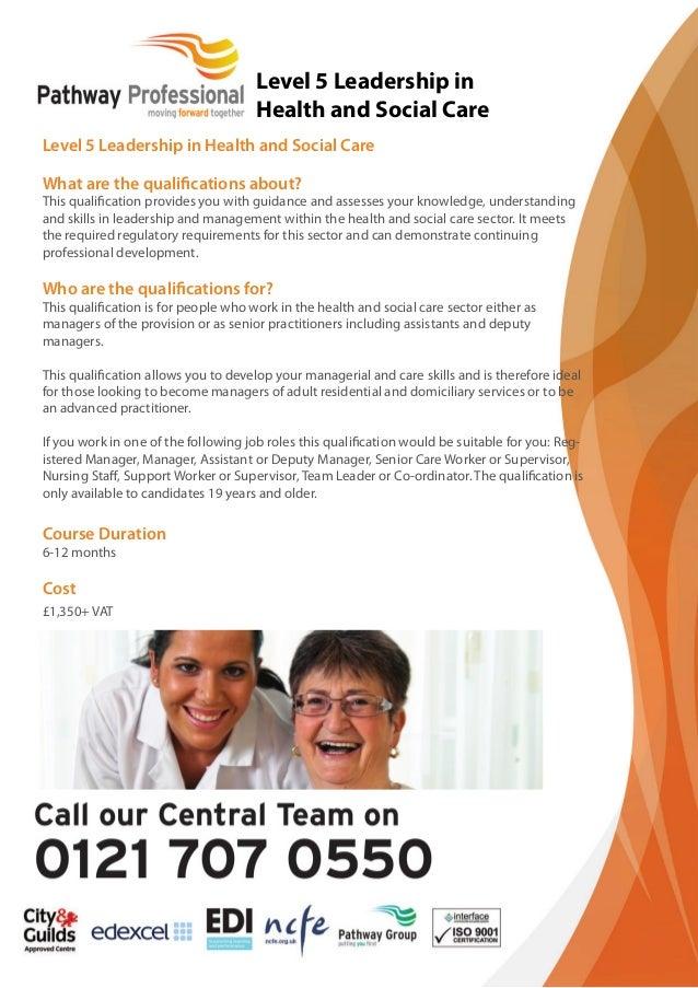 NVQ Level 5 Diploma Health and Social Care (Leadership)