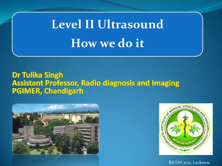 Level II Ultrasound   How we do it                      RICON 2011, Lucknow