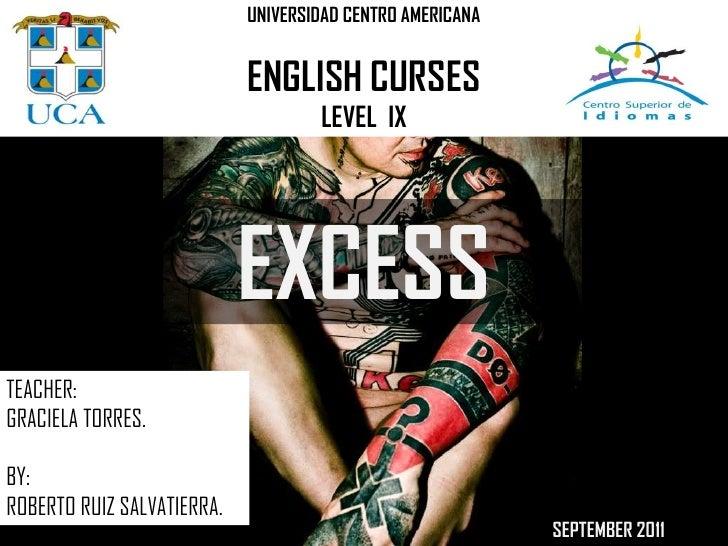UNIVERSIDAD CENTRO AMERICANA                            ENGLISH CURSES                                    LEVEL IX        ...