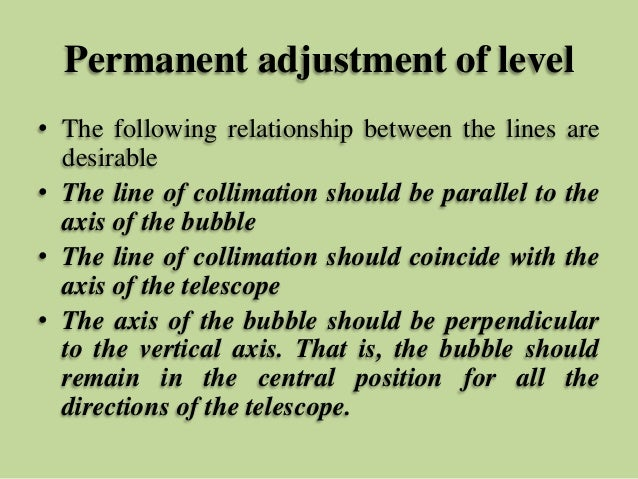 temporary and permanent adjustment of dumpy level pdf