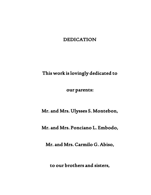 Dedication letter for my research paper