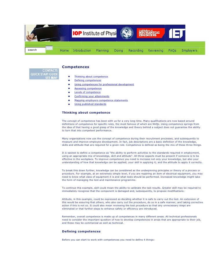 search         Competences                   Thinking about competence                   Defining competences             ...