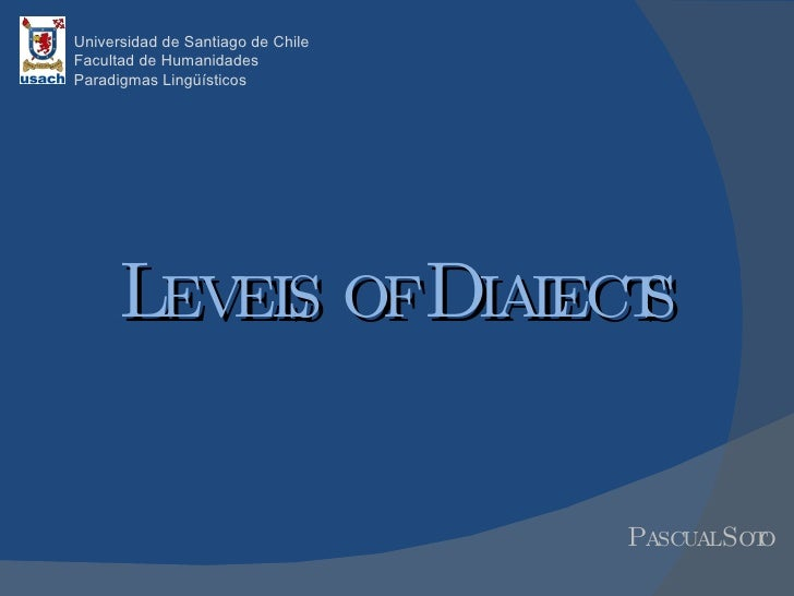 Levels of dialects