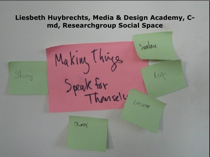 Liesbeth Huybrechts, Media & Design Academy, C-md, Researchgroup Social Space