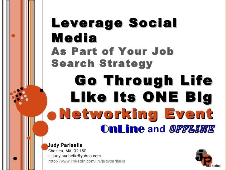Leverage Social Media As Part Of Your Job Search   3 23 2011
