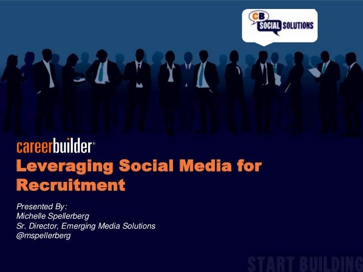 Leveraging Social Media for Recruitment