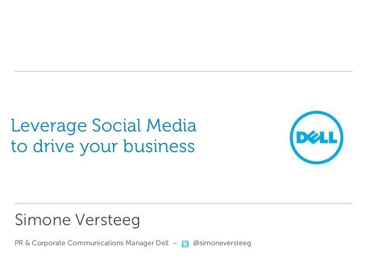 Leverage social media to drive business the case sept 2012
