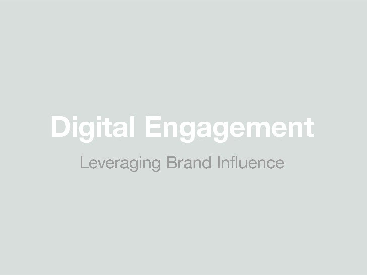 Leveraging brand influence