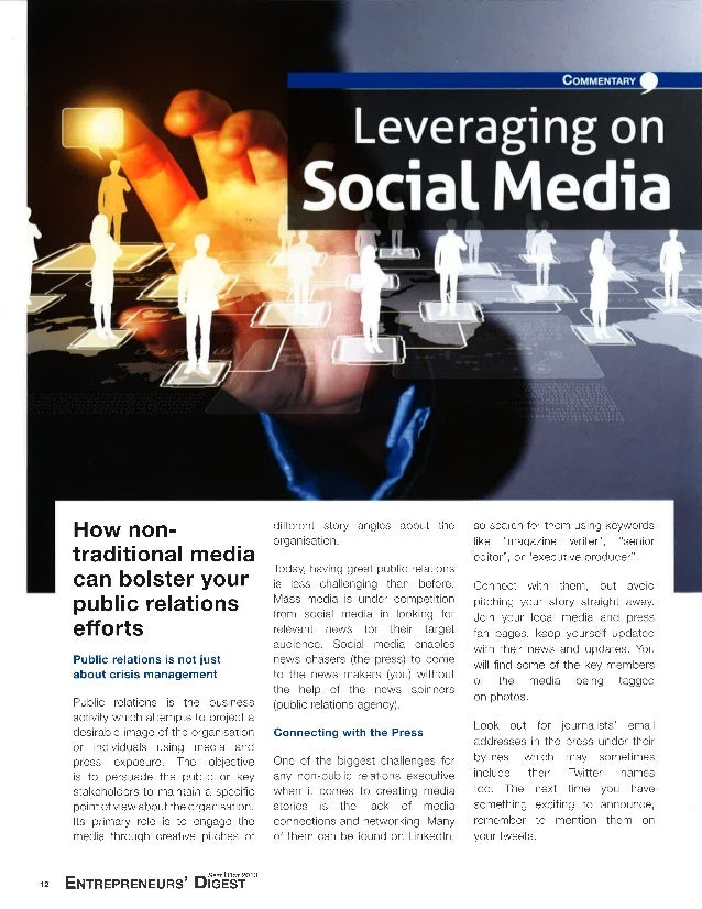 Leveraging on social media for Public Relations