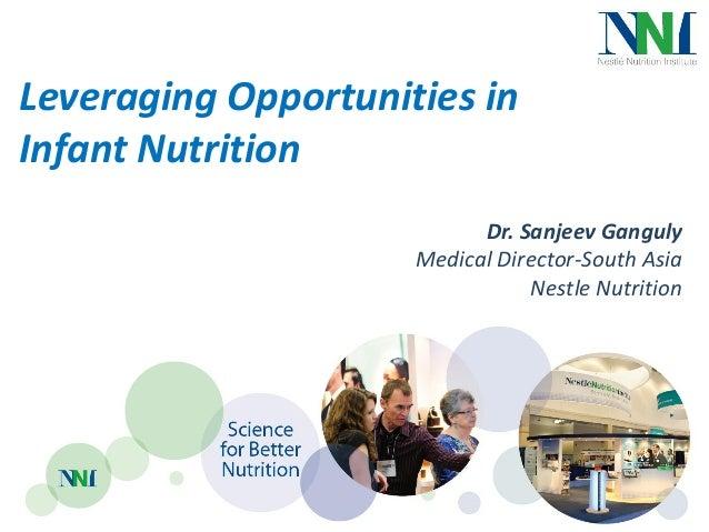 Leveraging Opportunities inInfant Nutrition                           Dr. Sanjeev Ganguly                     Medical Dire...