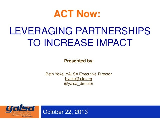 Leveraging Partnerships to Increase your Library's Impact