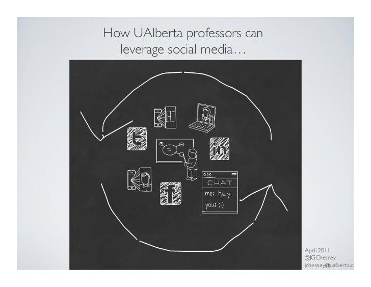 How University of Alberta professors can leverage social media...