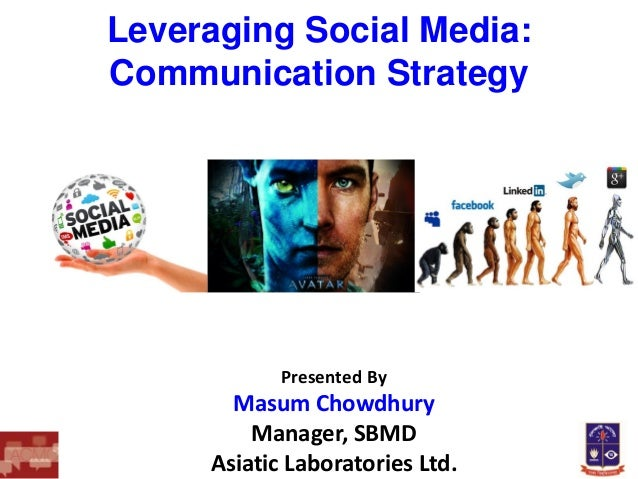 Leveraging Social Media: Communication Strategy  Presented By  Masum Chowdhury Manager, SBMD Asiatic Laboratories Ltd.