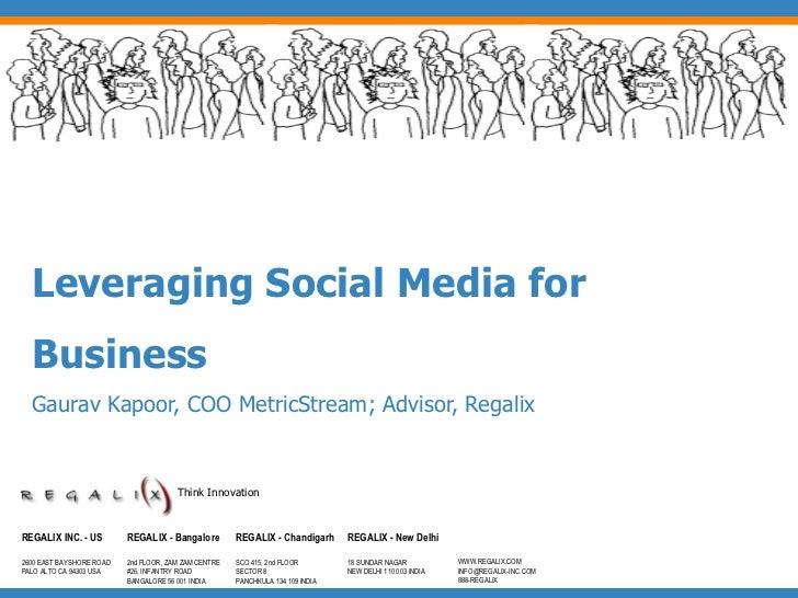 Leveraging Social Media for Business - By Gaurav Kapoor