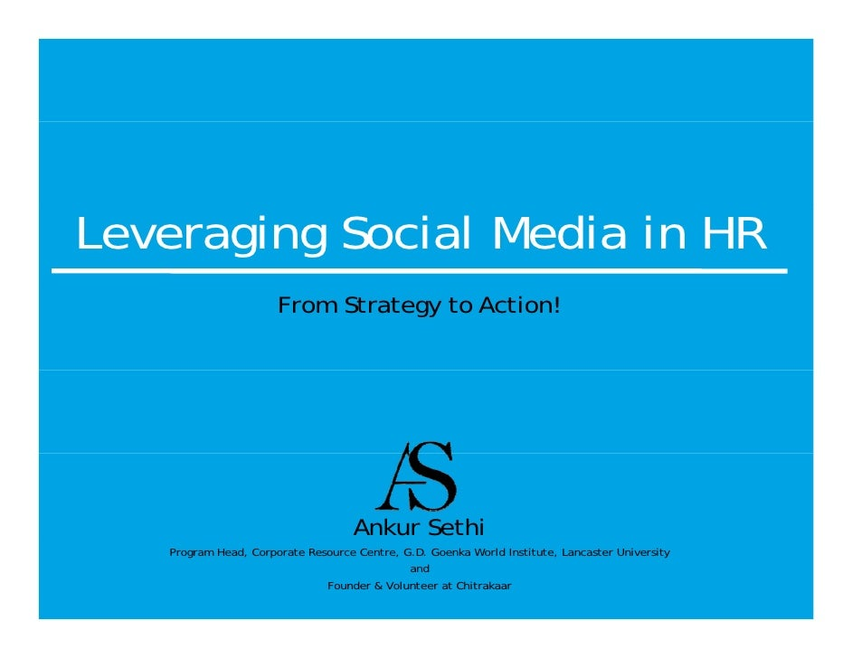 NHRDN Program on Leveraging Social Media in HR March 28, 2012
