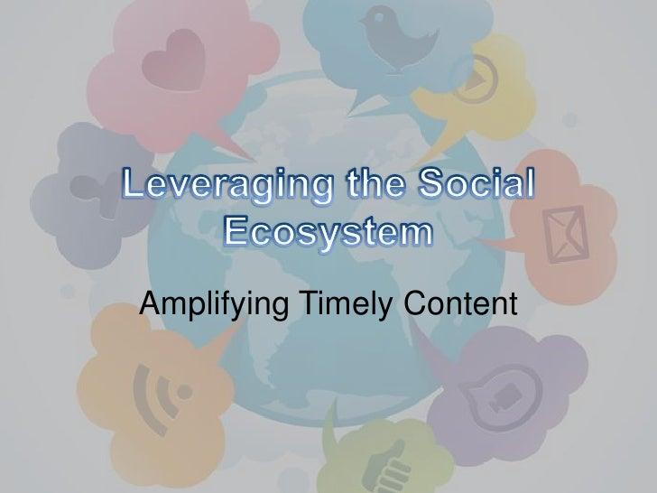 Leveraging the social media ecosystem