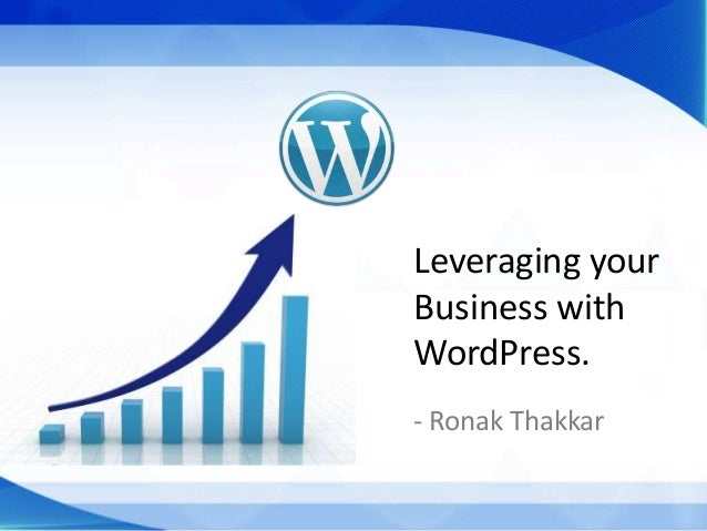 Leveraging your business with WordPress