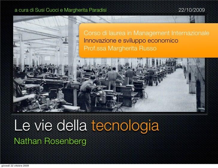 Le Vie Della Tecnologia - Rosenberg