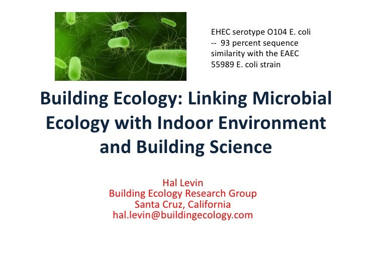 EHEC serotype O104 E. coli                             -- 93 percent sequence                             similarity with ...