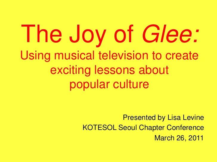 Lisa Levine glee presentation