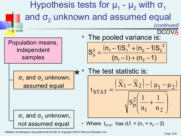 hypothesis testing on two samples quick Two sided, two sample t-tests (if you need a quick and dirty estimate what alternative hypothesis do we want to use h1.