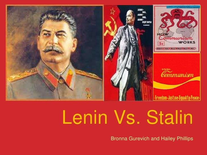 Lenin Vs. Stalin<br />Bronna Gurevich and Hailey Phillips<br />