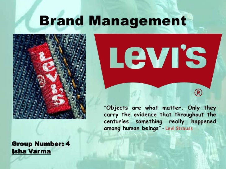 """Brand Management<br />""""Objects are what matter. Only they carry the evidence that throughout the centuries something reall..."""