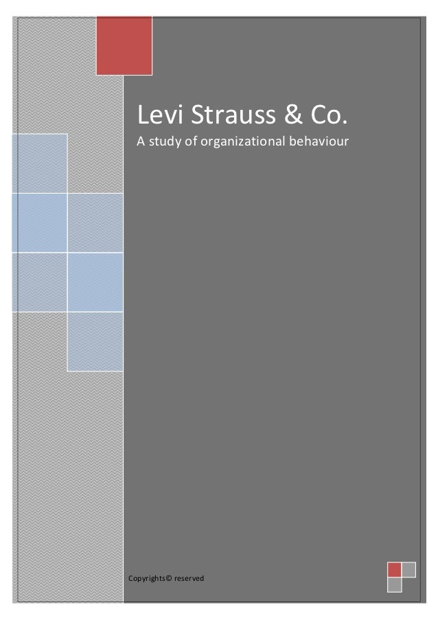 Levi Strauss & Co.  A study of organizational behaviourCopyrights© reserved