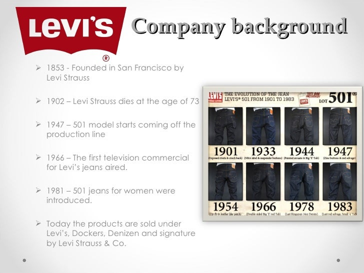 a company profile of levi strauss co and the different marketing mix it applies 2018-8-22 through efficient technological ship management, management of human resources and skills, and the use of relationship marketing mechanisms of mutual benefit and respect, a company can establish, enhance and sustain on-going business relationships with different customers.