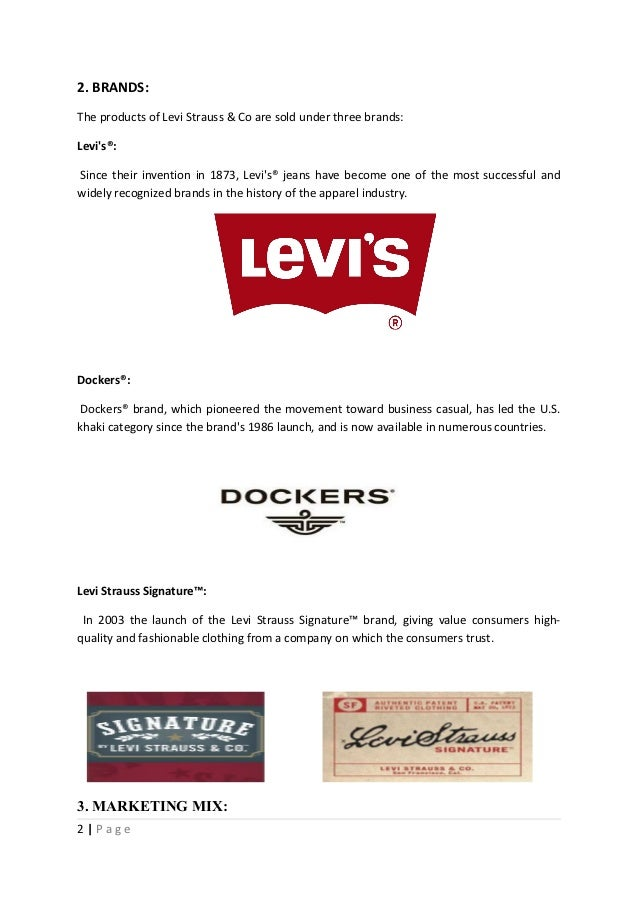 levis dockers creating a sub brand essay