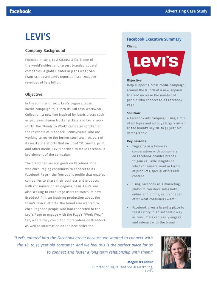 case study of levi strauss Levi strauss: avoiding regrettable substitution in a case study published earlier this year, levi strauss levi' strauss's case study on phase out of.