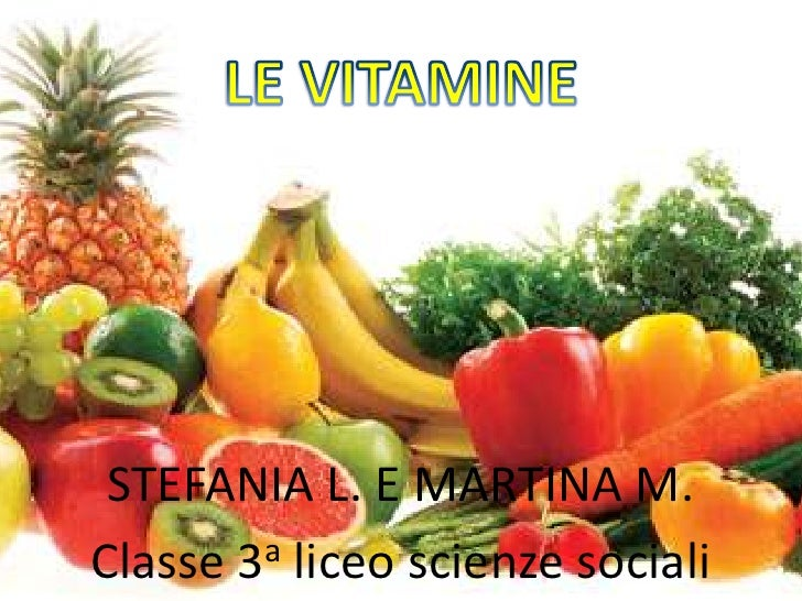 Le vitamine