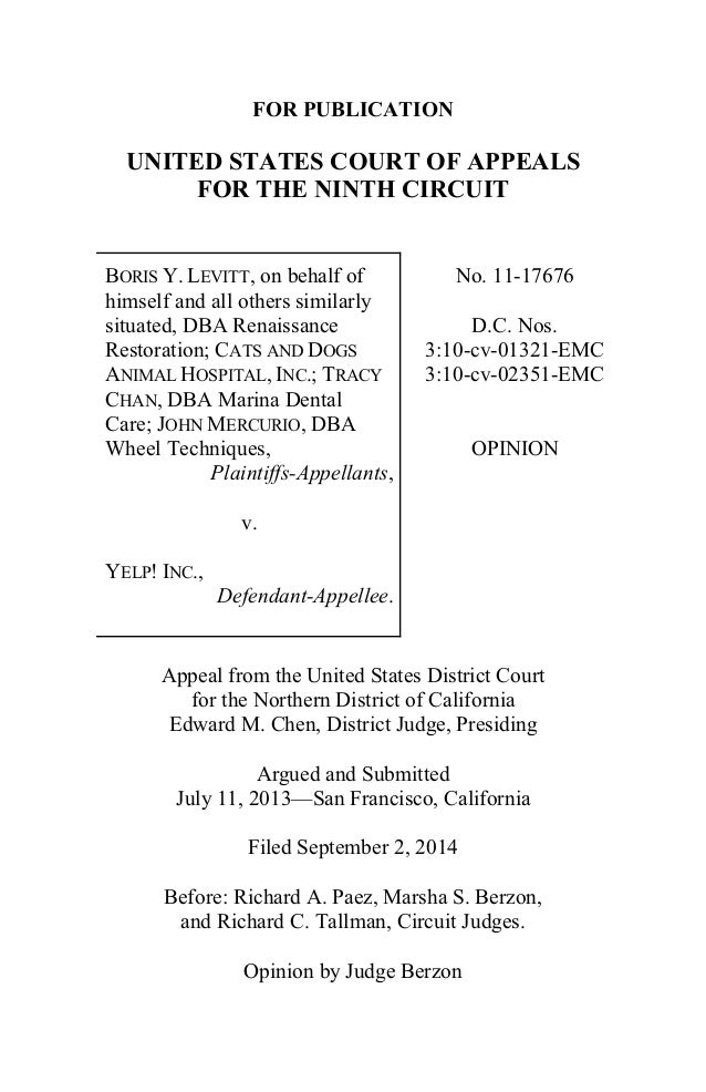 FOR PUBLICATION  UNITED STATES COURT OF APPEALS  FOR THE NINTH CIRCUIT  BORIS Y. LEVITT, on behalf of  himself and all oth...