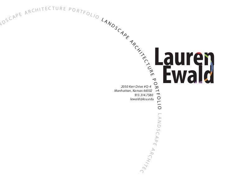 Lauren Ewald Landscape Architecture Portfolio