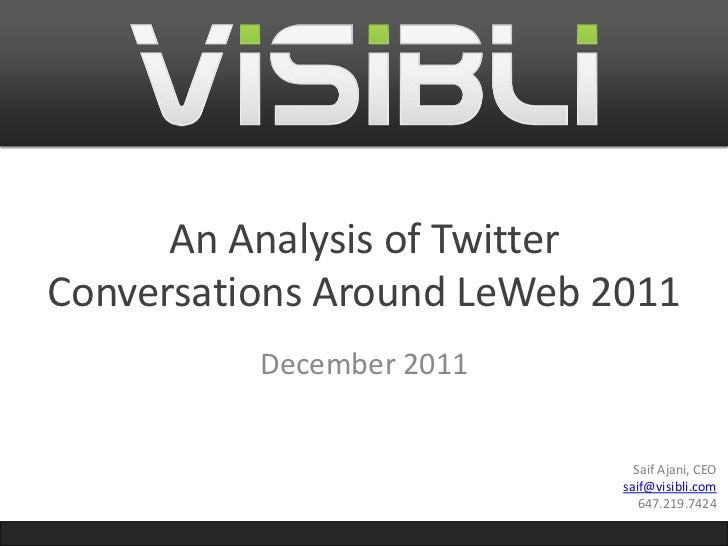 LeWeb 2011 - Analysis