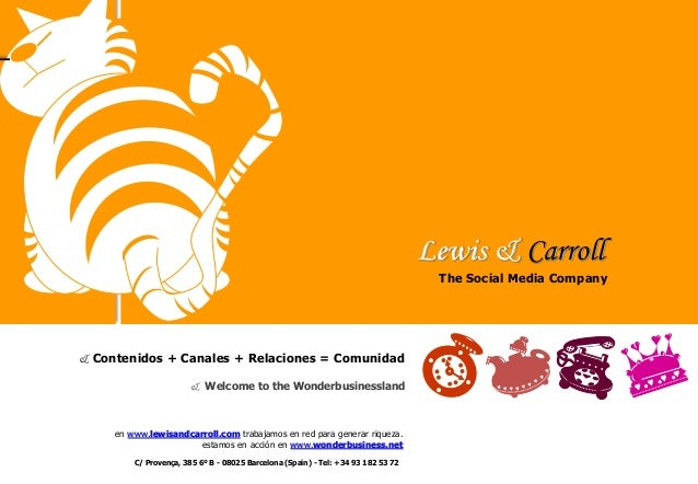 Lewis & Carroll - The social media company
