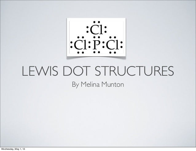 LEWIS DOT STRUCTURESBy Melina MuntonWednesday, May 1, 13