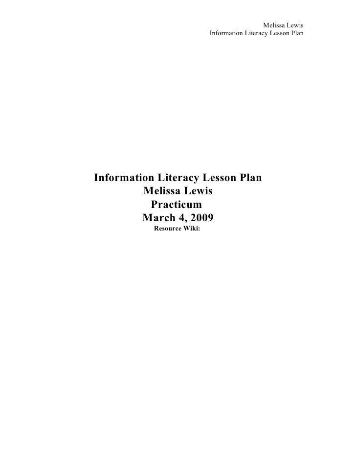 Lewis M Info Lit Lesson