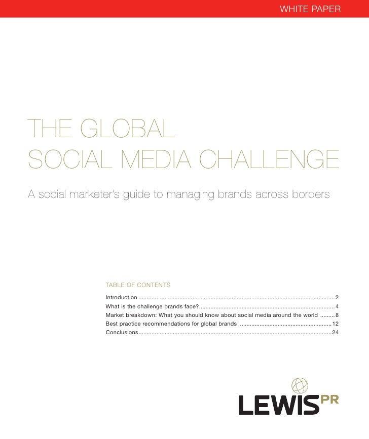 The Global Social Media Challenge